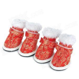 Holiday Dog Booties